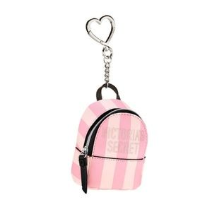 NEW! Victoria's Secret Striped Backpack Keychain
